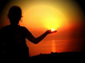 El sol en bandeja (atardecer desde la campa)