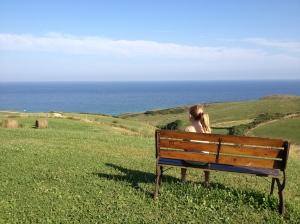 Disfrutando de las vistas desde la campa del hotel