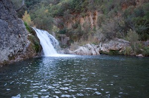 Salto de agua en el Río Borosa