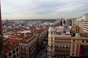 Vistas de Madrid desde la terraza