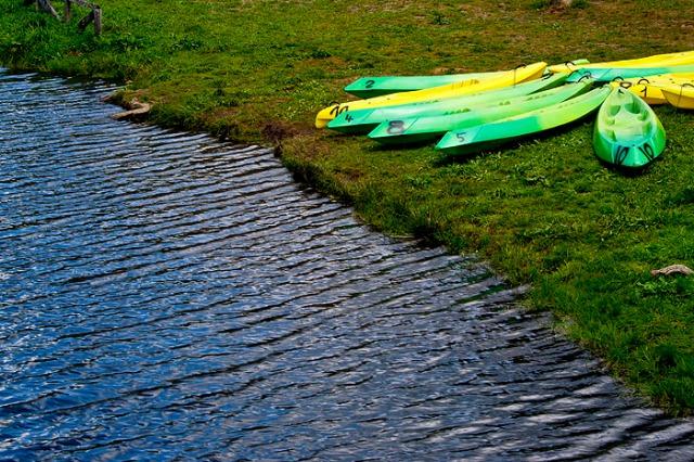 Canoas para pasear por el río